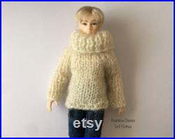 1 12 Heidi Ott male doll, jeans and sweater