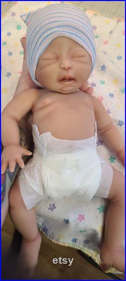 14 Boy Preemie Full Body Silicone Baby Doll Lincoln