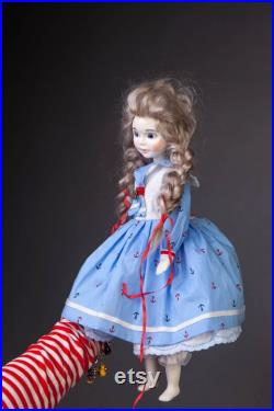 14 Porcelain doll OOAK doll Boudoir doll Doll in dress Baby doll Collectible doll French doll