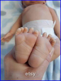 15 Full Body Silicone Baby Boy Doll Tyler