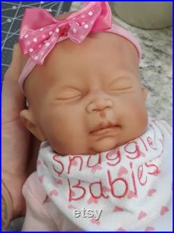 16 Girl Preemie Full Body Silicone Baby Doll Abigail
