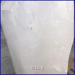 223.08LB Natural White Clear Quartz Obelisk,Crystal Energy,Crystal Heal,Crystal Stick Point,Mineral Specimens,Reiki Healing,Home Decoration