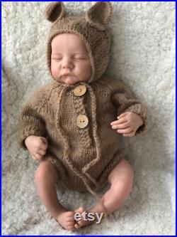 48CM Reborn Babies Dolls, Handmade Realistic Reborn Weighted Baby Doll