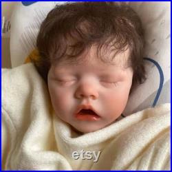 48cm Reborn babies silicone vinyl body reborn Handmade toddler baby doll silicone Realistic reborn baby Sleeping doll reborn baby dolls