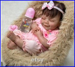 50CM reborn premie baby , newborn doll baby girl , detailed hand painting real soft touch , cuddly baby