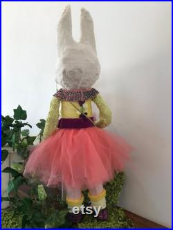 ART DOLL Anthropomorphic White Rabbit