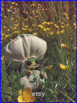 Amanita OOAK HANDMADE Clayface Toy Art Doll Stuffed Animal