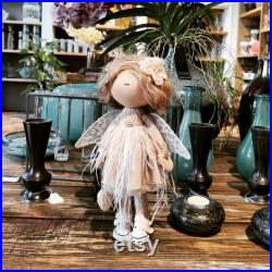 Angel doll Decor doll Cloth doll Fabric doll Interior doll Handmade doll Rag doll Textile doll Summer doll Lovely doll