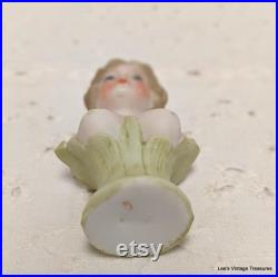 Antique Porcelain Naughty Novelty, Bust Squirter', Rare and unusual, Early 1900's, Nude Breasted tiny lady, Half Doll related