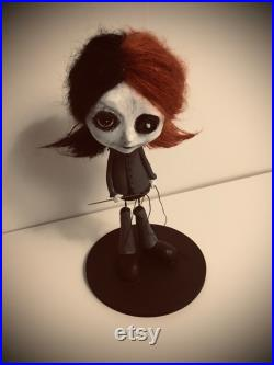 Art Doll-Sculpture Doll-Artistic Doll Sculpture-Gothic Decoration-Dark Sculpture-Unique Gothic Gift-Shadowy Art Doll