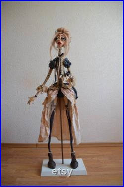 Author's doll Doll on a frame Mystical doll Beautiful doll Art Dark doll Polymer clay Beautiful girl Princess Scary story Love for dolls