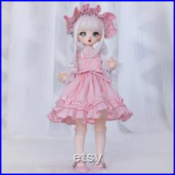 BJD Doll full set 1 4 female Girl body Ball jointed dolls Movable Resin Art doll BJD eyes wig clothes shoes Birthday Gift for girls Cute BJD