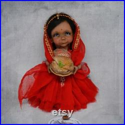 BJD Dolls Jointed doll polymer Gift for India color tenderness cameo OOAK Art Doll BJD