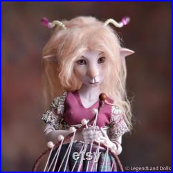 BJD doll faun MELODY porcelain ball jointed art dolls, handmade fantasy figurine unique Gift for Her