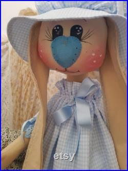 Big rag doll Easter bunny.