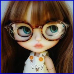 Bkythe custom faceplate,blythe faceplate,blythe custom doll