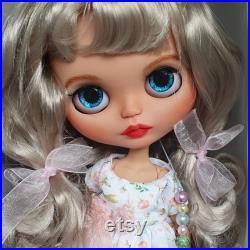 Blythe custom doll, tbl ooak with long fair hair