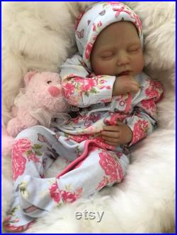 Cherish Dolls Anya Fully Reborned Baby Fake Babies Realistic 22 Big Reborn Girl Special Offer Lower Price Cheap