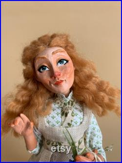 Country Girl Hannah, handmade ooak art doll