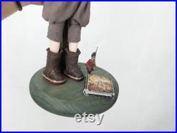 Custom Blythe boy OOAK Troll sculpting face vampire teeth mohair wig doll by Alinari adult collector 14