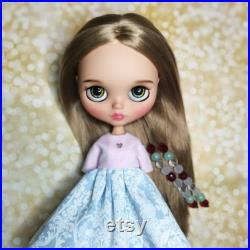 Custom Blythe doll Tbl Christmas present doll for adoption brown hair