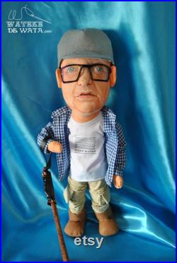 Custom fabric art dolls. Personalized and handmade. Realistic face, 45 cm