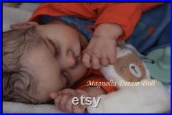 Custom order reborn baby doll girl Twin A by Bonnie Brown 17 3D painted hair Magnolia Dream Doll