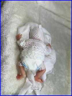 Drink-wet Micro preemie boy- Fullbody silicone OOAK Magdalena's Art-Baby doll WOJCIECH