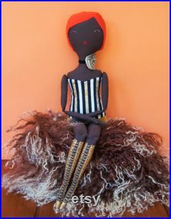 ESTRELLA Handmade Doll, OOAK, Textile doll, Art doll, Collectible