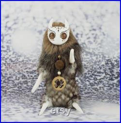 Forest Spirit Kotiki Ash grove. Art doll. OOAK toy. Poseable toy. Soft sculpture.