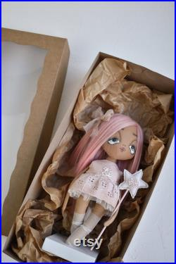 Gift doll for nursery decor in gift box expecting mom gift, personalized baby gifts for girl, new parent gift, congratulations gift