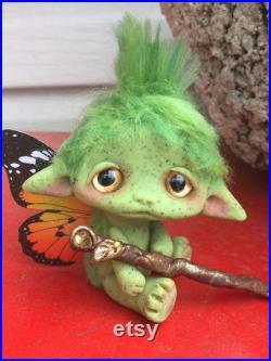 Goblin Scout Faerie Trollfling troll Twig by Amber Matthies