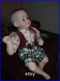 HENRY HOODWINK horror doll. Creepshow. Porcelain boy. Haunted roadshow. Terror toys. Creepy scary strange things weird unusual Goth Gothic