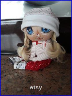 Handmade textile doll,Art doll,Clotch doll,Handmade doll,Fabric doll,Textile doll