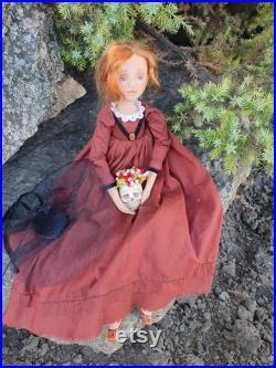 Haunted Doll, Creepy art doll, mystic spirit horror doll