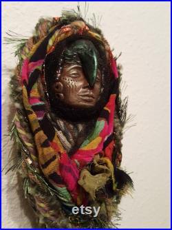 Hekate Moon, Winter Equinox, Raven Crow, Totem Spirit, Power animal, Tarot Doll, Healer, Shamanic Altar, Moon Ritual, Pagan, Wiccan