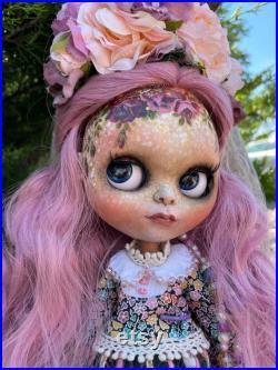 IN STOCK Beautiful Flower Girl Custom Blythe OOAK Art Doll