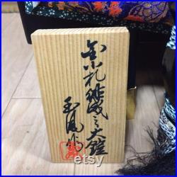 Japanese Gogatsu Doll Yoroi kabuto Samurai Armor Ornament 78cm TALL withBox