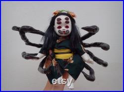 Jorogumo Yokai Doll Kimono OOAK Japanese Yokai Doll Spooky Yokai Doll Dark Art Horror Ghost Spider Yokai Scary Doll Handmade Spider Doll