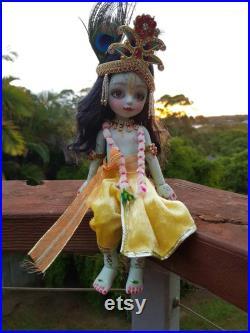 Krishna doll poseable