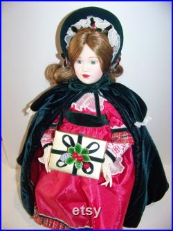 Lenox Christmas doll 17in MIB with stand Porclain