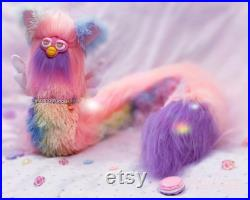 Long Furby Lucky Dip Made to Order Custom Plush Plushie Doll Choice of Pastel, Bright, Cottagecore or Black Colour Scheme