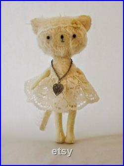 Lulubell Mohair Artist Kitty teddy box set Attic Collection Keepsake Jointed OOAK