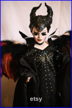 Maleficent handmade porcelain doll