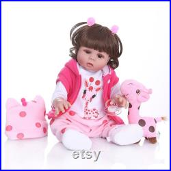Mixed silica gel Reborn Baby Dolls, Newborn Lifelike Soft Silicone Baby Dolls, Lovely baby with eyes open