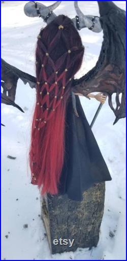 Monster High Doll OOAk Repaint DraySier, The Dark One, Daedric Bringer Of War Dragon Queen Skyrim Inspired