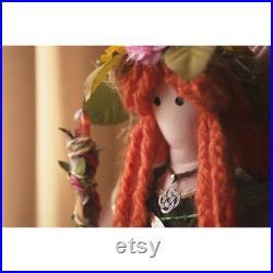 Navia Celtic Goddess. Handmade by hand. Unique Fabric Doll.