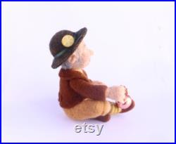 Needle Felted Doll Tea Gnome, Wool Felt Doll, Exclusive OOAK Art Doll, Autor Doll, Collectible Doll Gnome, Artist Doll, Art Home Decor