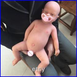 NewWoman WB1502 18 Inch 3800g Realistic Silicon Bebe Reborn Boy Baby Doll Full Body Silicone Toys