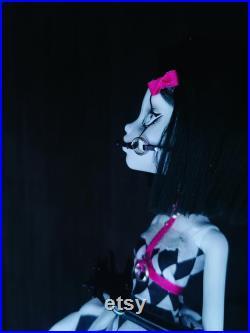 OOAK Ball Gag Clown (American Horror Story AHS) Custom Handmade Doll